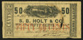 Obsoletes By State:Louisiana, New Orleans, LA- S.B. Holt & Co. 50¢ Mar. 29, 1862. ...