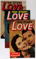 Golden Age (1938-1955):Romance, Ten Story Love Group (Ace, 1954-55) Condition: Average VF....(Total: 11 Comic Books)