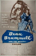 Miscellaneous:Movie Posters, [Movie Posters]. Beau Brummel (1961). Original one sheet movie poster, 1962 MGM reissue. Folded. Overall fine co...