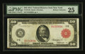 Fr. 1013b $50 1914 Red Seal Federal Reserve Note PMG Very Fine 25