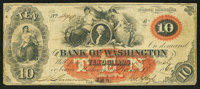Washington, NC- The Bank of Washington $10 Nov. 17, 1860 G16a