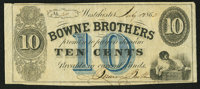 Westchester, NY- The Bowne Brothers 10¢ July 15, 1862 Harris H5