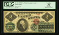Large Size:Legal Tender Notes, Fr. 41 $2 1862 Legal Tender PCGS Apparent Very Fine 30.. ...