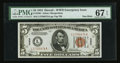 Small Size:World War II Emergency Notes, Fr. 2301 $5 1934 Hawaii Federal Reserve Note. PMG Superb GemUncirculated 67 EPQ.. ...