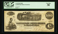 Confederate Notes:1862 Issues, T40 $100 1862 PF-1 Cr. 298 Greenwood, MS Issue.. ...