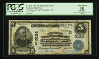 Wilmington, NC - $5 1902 Date Back Fr. 592 The American NB Ch. # (S)9124