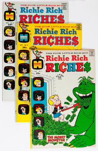 Richie Rich Riches #1-4 File Copy Group (Harvey, 1972-73) Condition: Average VF/NM.... (Total: 8 Comic Books)