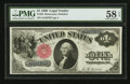 Large Size:Legal Tender Notes, Fr. 34 $1 1880 Legal Tender PMG Choice About Unc 58 EPQ.. ...