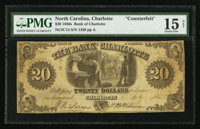 Charlotte, NC- Bank of Charlotte Counterfeit $20 G2, C14