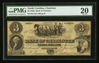 Charlotte, NC- The Bank of Charlotte $3 June 10, 1861 G2