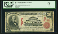Asheville, NC - $20 1902 Red Seal Fr. 641 The American NB Ch. # (S)8772