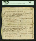 Colonial Notes:Maryland, Maryland Continental Loan Office Bill of Exchange May 11, 1781 Uncut Pair PCGS About New 50.. ...