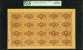 Fr. 1230 5¢ First Issue Full Sheet Of Twenty PCGS Gem New 66PPQ