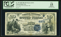 Rockland, ME - $20 1882 Date Back Fr. 553 The North NB Ch. # (N)2371