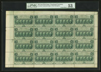 Fr. 1310 50¢ First Issue Complete Sheet Of Sixteen PMG About Uncirculated 53