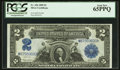 Large Size:Silver Certificates, Fr. 256 $2 1899 Silver Certificate PCGS Gem New 65PPQ.. ...