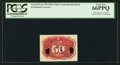 Fractional Currency:Second Issue, 50¢ Second Issue Fiber Paper Experimental Back PCGS Gem New 66PPQ.. ...