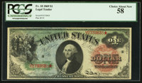 Fr. 18 $1 1869 Legal Tender PCGS Choice About New 58