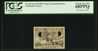 50¢ Second Issue Fiber Paper Experimental Face PCGS Superb Gem New 68PPQ