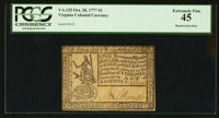 Virginia October 20, 1777 $1 PCGS Extremely Fine 45