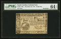 Colonial Notes:South Carolina, South Carolina December 23, 1776 $4 PMG Choice Uncirculated 64EPQ.. ...