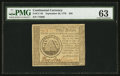 Continental Currency September 26, 1778 $50 PMG Choice Uncirculated 63