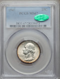 Washington Quarters: , 1947 25C MS67 PCGS. CAC. PCGS Population (59/0). NGC Census:(193/0). Mintage: 22,556,000. Numismedia Wsl. Price for proble...