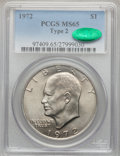 Eisenhower Dollars, 1972 $1 Type Two MS65 PCGS. CAC. PCGS Population (56/5). NGCCensus: (0/0). Numismedia Wsl. Price for problem free NGC/PCG...