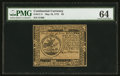 Continental Currency May 10, 1775 $5 PMG Choice Uncirculated 64