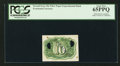 Fractional Currency:Second Issue, 10¢ Second Issue Fiber Paper Experimental PCGS Gem New 65PPQ.. ...