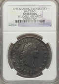 Early Dollars, 1795 $1 Flowing Hair, Three Leaves, B-5, BB-27, R.1 -- Repaired,Plugged -- NGC Details. XF. NGC Census: (0/0). PCGS Popula...