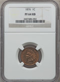 Proof Indian Cents: , 1876 1C PR64 Red and Brown NGC. NGC Census: (56/63). PCGS Population (94/57). Mintage: 1,150. Numismedia Wsl. Price for pro...