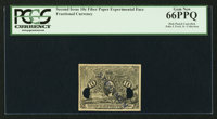 """10¢ Second Issue """"Short"""" Experimental Face PCGS Gem New 66PPQ"""