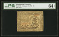Colonial Notes:Continental Congress Issues, Continental Currency February 17, 1776 $3 PMG Choice Uncirculated 64 Net.. ...