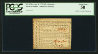 North Carolina August 8, 1778 $5 A Lesson to Arbitrary Kings, and Wicked Ministers PCGS About New 50