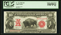 Fr. 121 $10 1901 Legal Tender PCGS Choice About New 58PPQ
