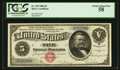Large Size:Silver Certificates, Fr. 259 $5 1886 Silver Certificate PCGS Choice About New 58.. ...