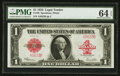 Large Size:Legal Tender Notes, Fr. 40 $1 1923 Legal Tender PMG Choice Uncirculated 64 EPQ.. ...