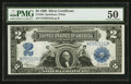 Large Size:Silver Certificates, Fr. 258 $2 1899 Silver Certificate PMG About Uncirculated 50.. ...