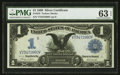 Large Size:Silver Certificates, Fr. 233 $1 1899 Silver Certificate PMG Choice Uncirculated 63 EPQ.. ...