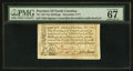 Colonial Notes:North Carolina, North Carolina December, 1771 10s PMG Superb Gem Unc 67 EPQ.. ...