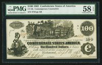 CT39/290A Counterfeit $100 1862