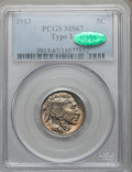 Buffalo Nickels: , 1913 5C Type One MS67 PCGS. CAC. PCGS Population (445/12). NGCCensus: (268/9). Mintage: 30,993,520. Numismedia Wsl. Price ...