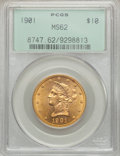 Liberty Eagles: , 1901 $10 MS62 PCGS. PCGS Population (5404/5986). NGC Census:(8346/9572). Mintage: 1,718,825. Numismedia Wsl. Price for pro...