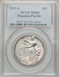 Commemorative Silver: , 1915-S 50C Panama-Pacific MS64 PCGS. PCGS Population (909/844). NGCCensus: (988/813). Mintage: 27,134. Numismedia Wsl. Pri...