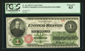 Large Size:Legal Tender Notes, Fr. 16c $1 1862 Legal Tender PCGS Choice New 63.. ...
