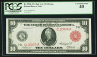 Fr. 898b $10 1914 Red Seal Federal Reserve Note PCGS Extremely Fine 40