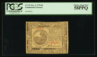 Continental Currency November 2, 1776 $6 PCGS Choice About New 58PPQ