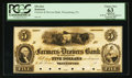 Obsoletes By State:Pennsylvania, Waynesburg, PA- The Farmers & Drovers Bank $5 G10 Proof. ...