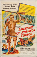 "Movie Posters:Adventure, Adventures of Robinson Crusoe & Other Lot (United Artists,1954). One Sheets (2) (27"" X 41""). Adventure.. ... (Total: 2 Items)"